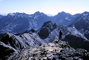 A gabbro landscape on the main ridge of the Cu...