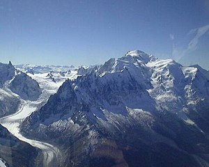 Mont Blanc, with, from left to right, dent du ...