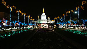 English: Oakland California Temple of The Chur...