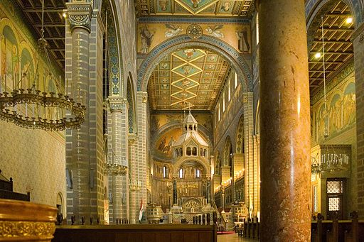 Pecs - Interior of Cathedral- Hungary