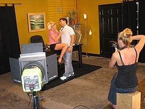 Pornographic film set, December 2007. Pictured...