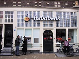 Branch of Rabobank in Amsterdam