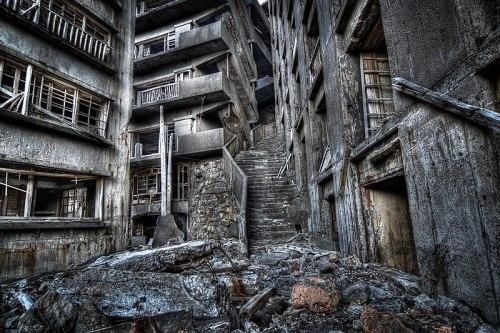 Hashima or Gunkanjima ruins