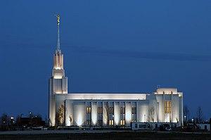 Twin Falls Idaho Temple, Night