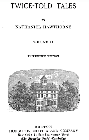 English: Twice-Told Tales by Hawthorne. Printe...