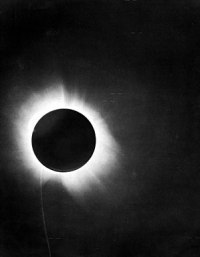 Eddington's photograph of a solar eclipse, whi...