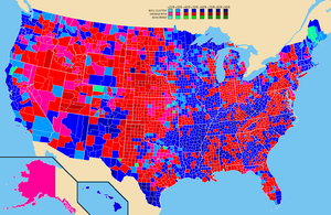 Election results by county. Bill Clinton Georg...