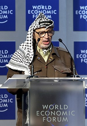 Yasser Arafat at 'From Peacemaking to Peacebui...