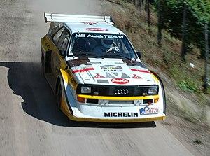 Audi Quattro S1 driven during the 2007 Rallye ...