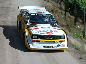 Audi Quattro S1 driven during the 2007 Rallye ...