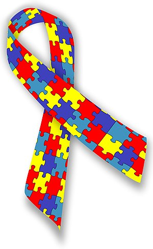 English: Autism awareness ribbon Português: Fi...
