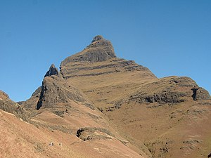Cathedral Peak, 3004m above sea level in the K...