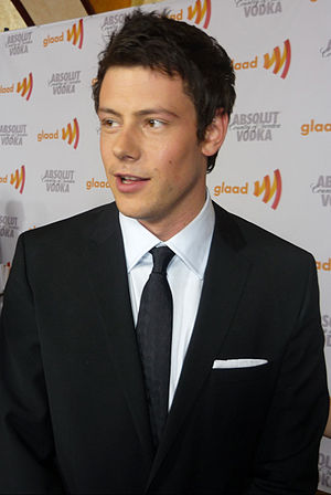 English: Cory Monteith at the GLAAD Awards on ...