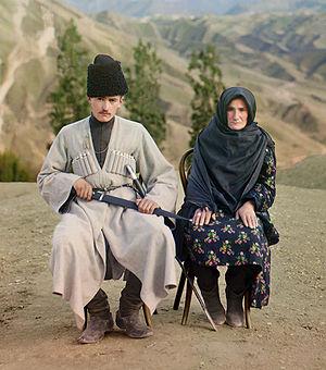 Original Description: Dagestani types. Man and...
