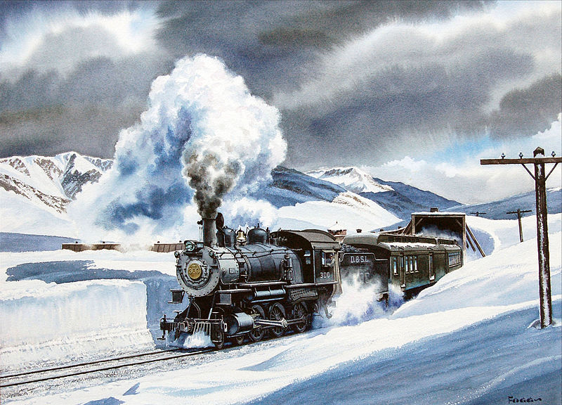 FileDenver Amp Salt Lake Railroad Passenger Train Exiting A