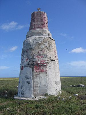 "Day beacon ""Earhart Light"" on Howlan..."