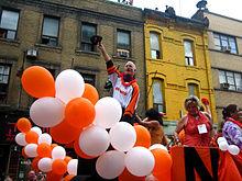 Jack Layton appearing in Toronto's Pride Parade 2009