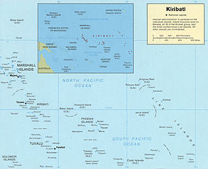 English: Map of Kiribati Español: Mapa de Kiribati