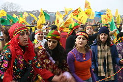 Kurds celebrating Nouruz in Istanbul, 2006.