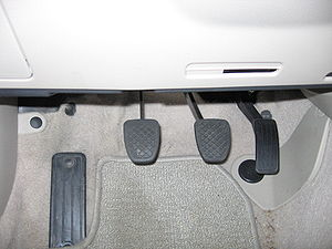 English: Photo showing the pedals of my car fo...