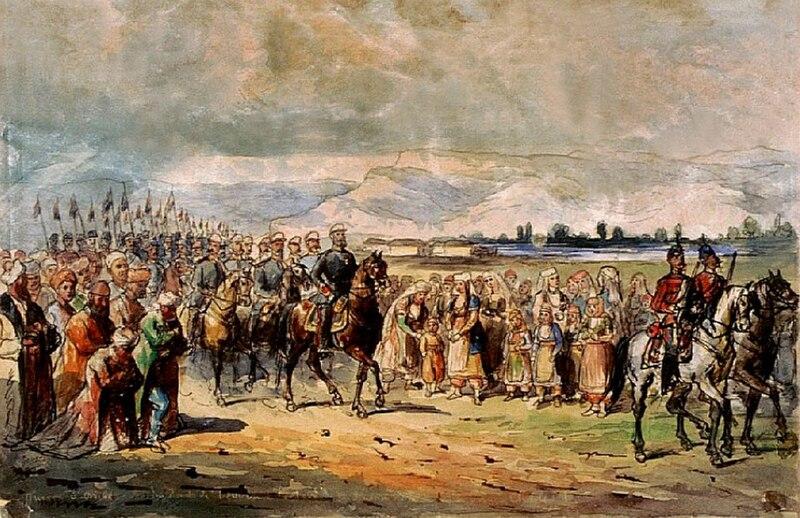 Fişier:Primirea lui Carol I in Bulgaria.jpg