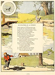 La Colombe Et La Fourmi : colombe, fourmi, File:Rabier, Fables, Fontaine, Colombe, Fourmi.jpg, Wikimedia, Commons