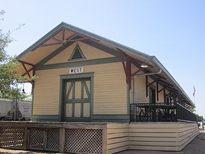 English: I took photo of train depot in West, ...