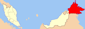 Location of Sabah
