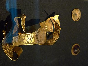 Staffordshire Hoard early medieval folded cros...