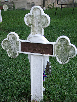 The grave of Thomas Merton.
