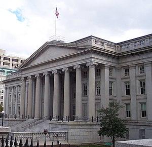 The U.S. Treasury building, Washington D.C.
