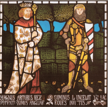 King Arthur and Sir Lancelot, one of a set of ...