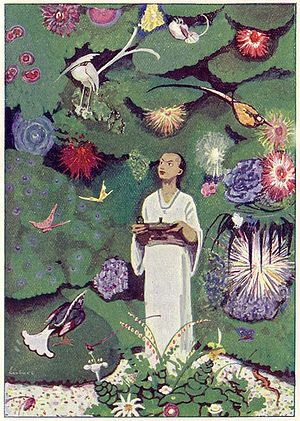 Aladdin in the Magic Garden, an illustration b...