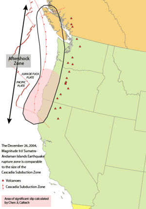 Area of the Cascadia subduction zone, includin...
