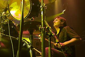 Dave Lombardo playing with Slayer in 2009