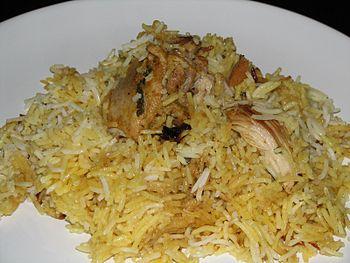 Kachhi Murgh Dum Biryani (plated)