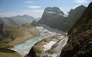 Grinnell Glacier in Glacier National Park (US)...