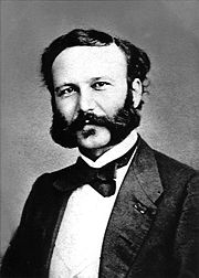 Henri Dunant, around 1860.