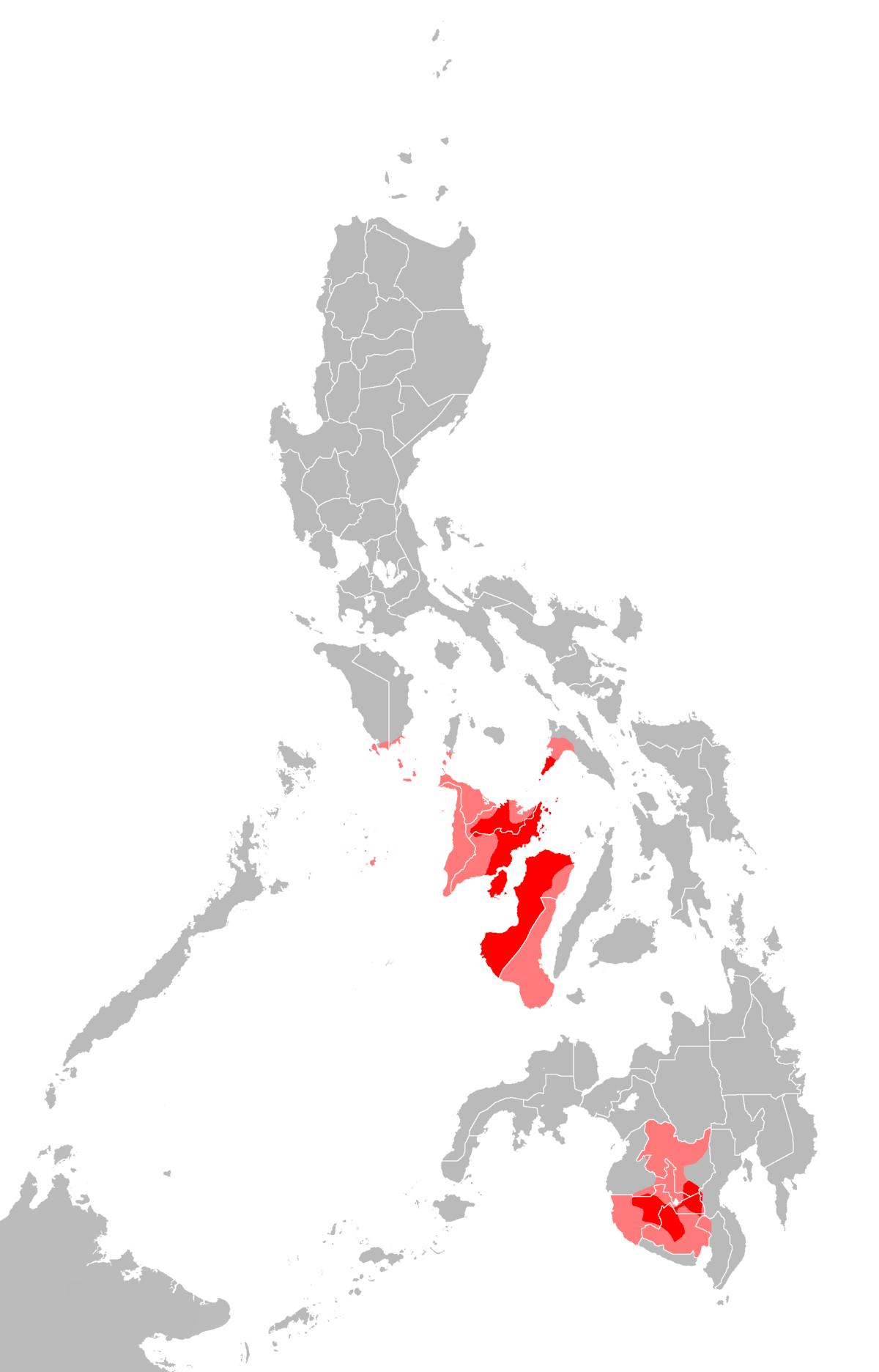 Philippines Map Visayas