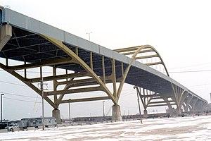 The Hoan Bridge in Milwaukee, Wisconsin, USA.