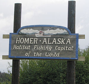 Homer welcome sign.