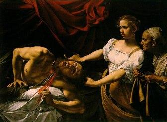 Judith enthauptet Holofernes (1598) von Michelangelo Merisis da Caravaggio (Quelle: Wikipedia: public domain)