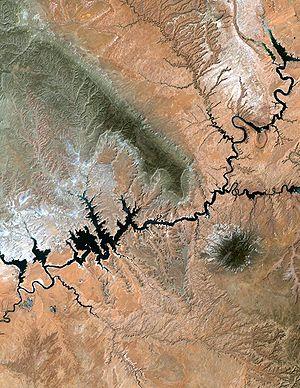 Lake Powell, Utah from NASA's Landsat Lake Pow...