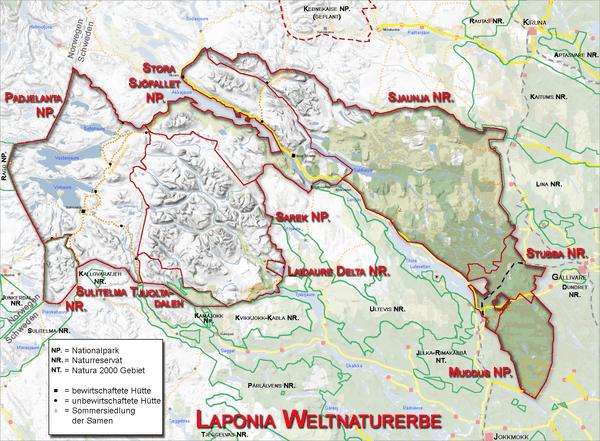 Der Sarek-Nationalpark im UNESCO-Weltkulturerbe Laponia