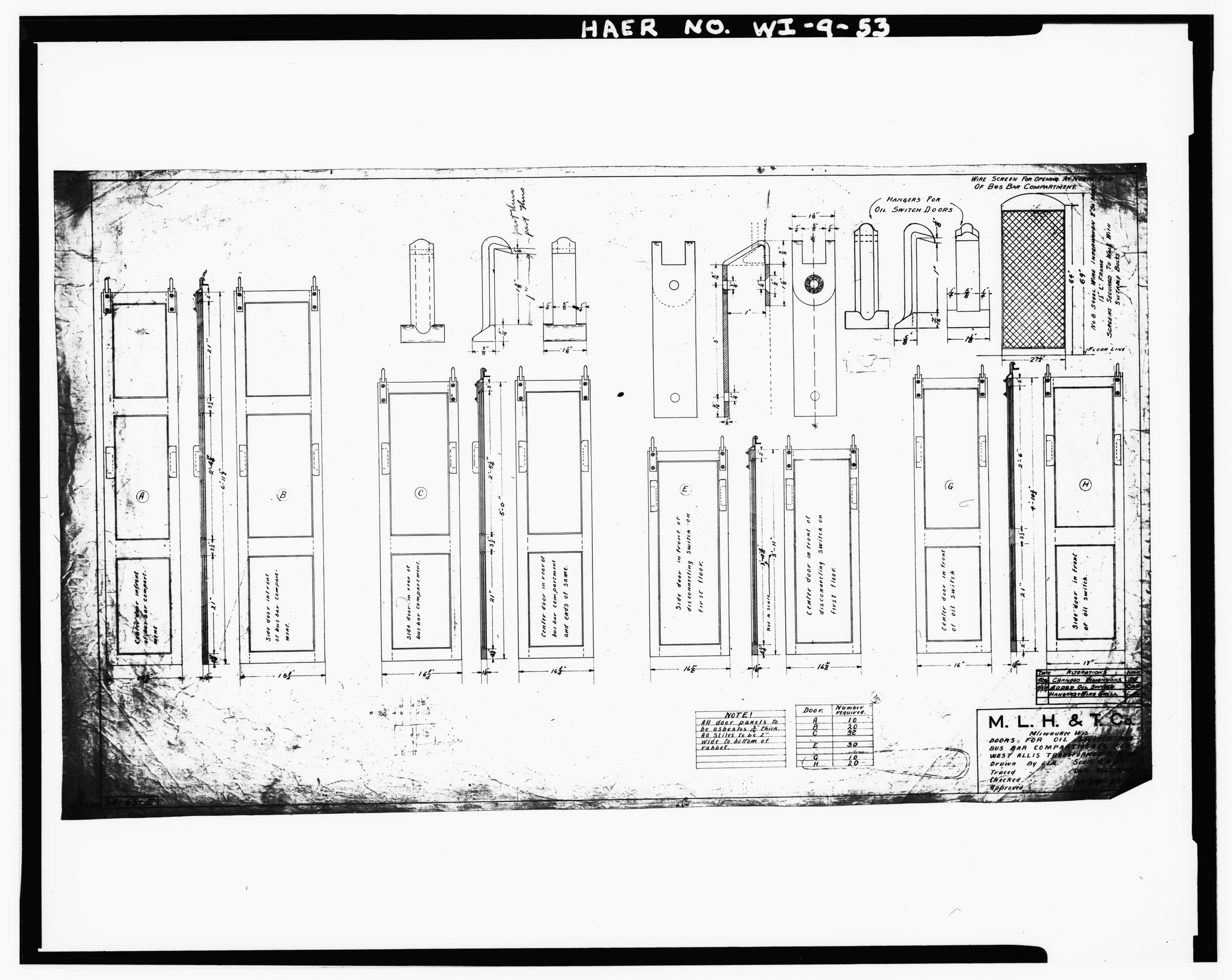 File:Photocopy of plans. Draftsman unknown, 1909 OIL