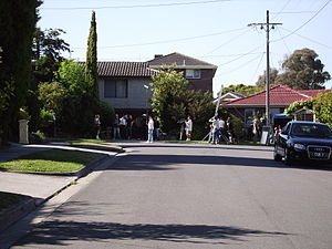 Australian soap opera Neighbours filming in Pi...
