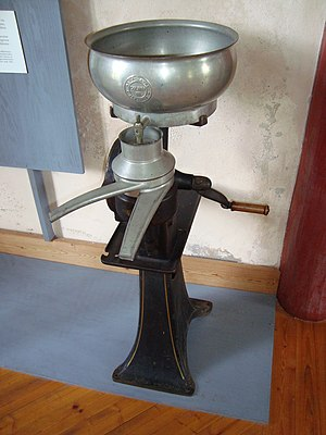 English: Cream separator at Kloster iron work ...