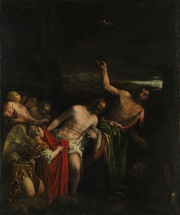 The Baptism of Christ by Jacopo Bassano