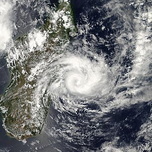 alt = cyclone swirling off east coast of Madag...