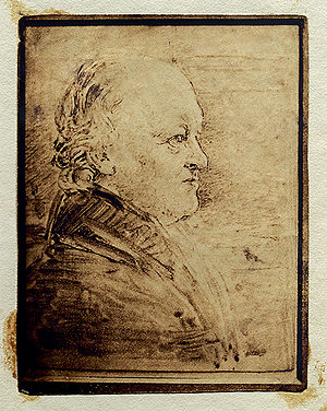 William Blake's portrait in profile, added lat...